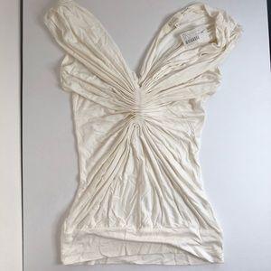 Butterfly pinch sleeveless top